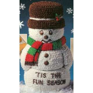 Up 3D Snowman Christmas Holiday Cake Pan (2105 1394, 1984) Retired