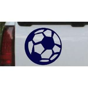 Soccer Ball Sports Car Window Wall Laptop Decal Sticker    Navy 10in X