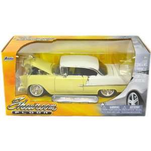 1955 Chevy Bel Air 1/24 Scale Die Cast Showroom Floor Light Yellow