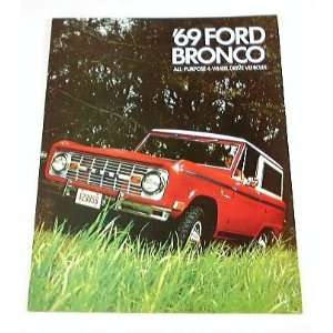 1969 69 Ford BRONCO Truck BROCHURE Wagon Pickup 4wd