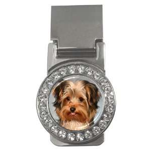 Yorkshire Terrier Puppy Dog 10 Money Clip CZ W0656