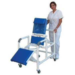 MJM International 193 Reclining Shower Chair with Leg Extension Softer