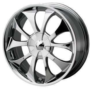 18 Ion Alloy 121 Custom Chrome Wheels FWD Passenger