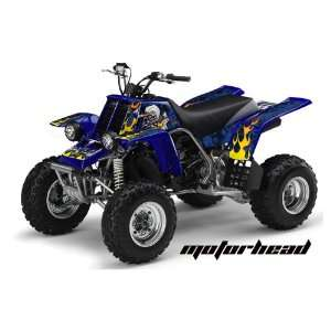 AMR Racing Yamaha Banshee 350 ATV Quad Graphic Kit   Motorhead Blue