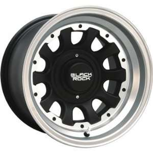 Black Rock Type D Alloy 15x8 Machined Black Wheel / Rim 6x5.5 with a