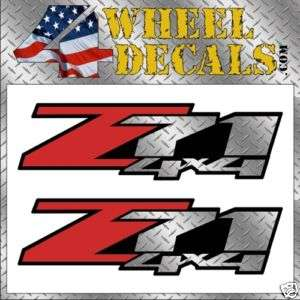 Z71 4x4 Decals / Stickers Chevy GMC Truck Diamond Plate