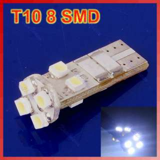 New T10 8 SMD LED 1206 Auto Car Canbus Indicator Light Lamp Blub White