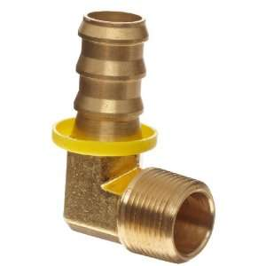 Anderson Metals Brass Push On Hose Fitting, Elbow, 1/4 Barb x 1/8