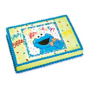 Sesame Street Cookie Monster Party Edible Image Birthday Cake Topper
