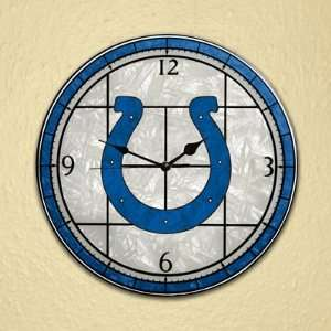 NFL Indianapolis Colts Stained Glass Wall Clock