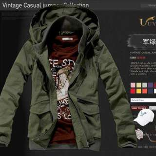 2010 Men Slim Fit Style Easy Match Hooded Coat Jacket