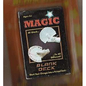 Magic Blank Deck (Professional Magicians Card Deck