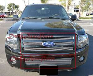 07 11 2011 Ford Expedition Aluminum Billet Grille Grill Insert Combo
