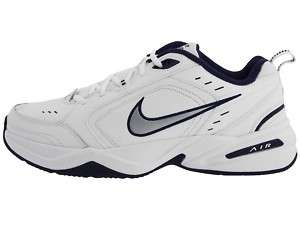 NIKE AIR MONARCH IV MENS CROSS TRAINING SHOES WHITE/NAVY EXTRA WIDE