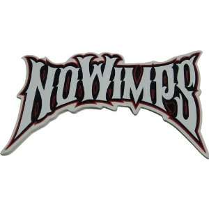 No Wimps Logo Single Stickers Off Road Motorcycle Graphic
