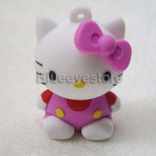 Real Capacity 2GB 4GB 8GB 16GB Cute Hello Kitty USB 2.0 Flash Memory