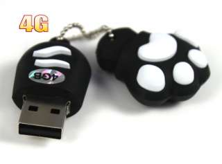 White Unique Fashion Rubber Cartoon Design 4GB USB Flash Drive Disk 4G