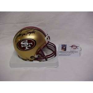 John Taylor Autographed San Francisco 49ers Mini Football Helmet w