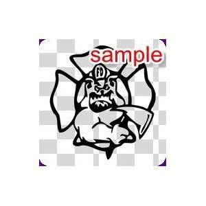 RANDOM FIREFIGHTER POPPING OUT 11 WHITE VINYL DECAL