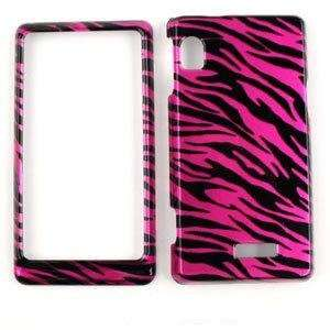 TRANS PINK/BLACK ZEBRA PRINT DESIGN CELL PHONE COVER