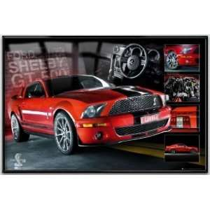 Ford Mustang Shelby GT500 Cobra   Framed Poster (Easton