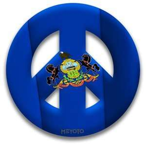 Peace Symbol Removeable Vinyl Sticker of Pennsylvania Flag