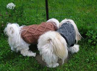 DOG SWEATER COAT HANDKNIT ORIGINAL MEDIUM LONG CANINE