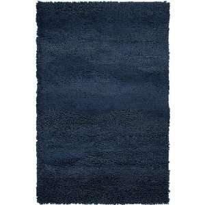 2 x 3 Berme Caviar Blue Wool Shag Area Throw Rug