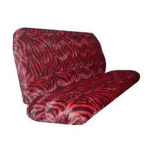 Car Truck SUV Zebra Black Red Rear Bench or Small Truck Seat Covers