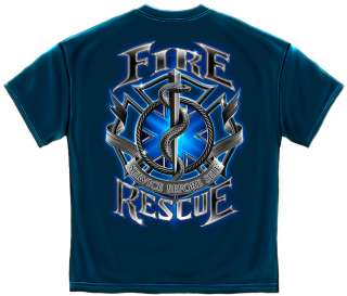 Fire Rescue   Service Before Self   EMT EMS Firefighter Firemen Tshirt