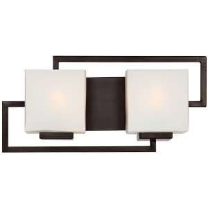 Lighting on the Square Bronze 17 Wide Bath Wall Light