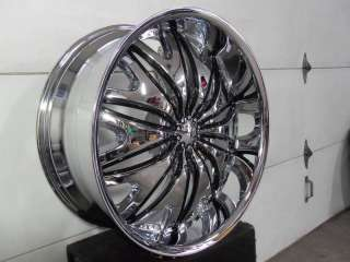 Wheel + Tire Packages 22 inch Triple chrome rims V820