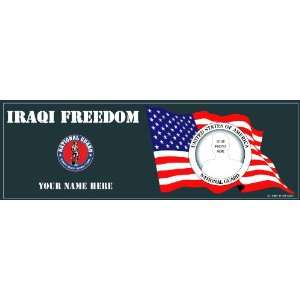 National Guard Iraqi Freedom Bumper Sticker Everything