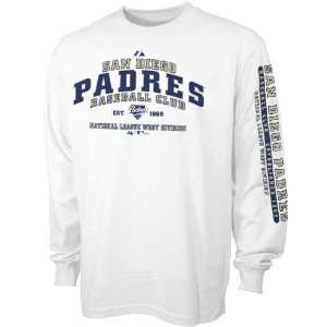 Majestic San Diego Padres White Youth Fan Club Long Sleeve