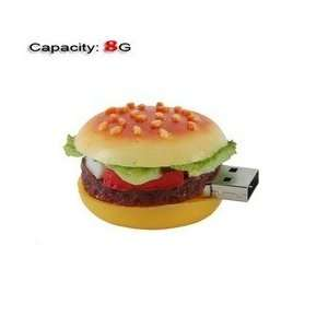 8GB Lovely Big Hamburger Shape Flash Drive (Yellow) Electronics