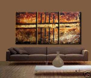 MODERN ABSTRACT HUGE LARGE CANVAS ART OIL PAINTING