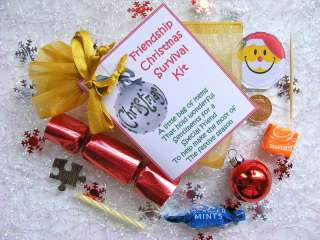 Personalised Special Best Friend Christmas Survival Kit Gift Card