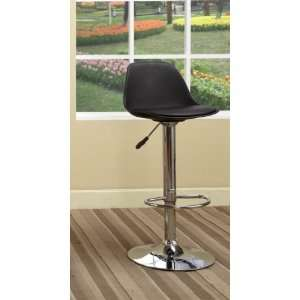 Black & Chrome Finish Air Lift Adjustable Modern Bar Stool