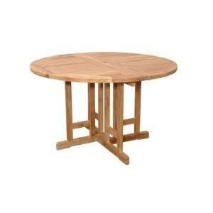 Anderson Teak TBF 047BR Butterfly 47 Round Folding Table