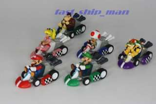 Nintendo super mario bros marco car full set 6pcs
