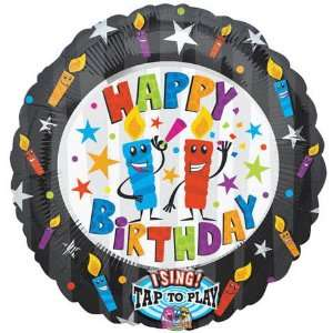 Happy Birthday Candles Singing Balloon, 28 Toys & Games