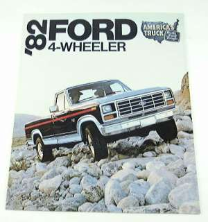 1982 82 Ford 4 WHEELER Pickup Truck BROCHURE XLS XLT