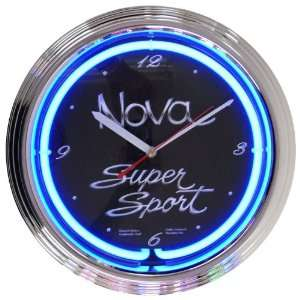 Cars and Motorcycles Nova Super Sport Neon Clock