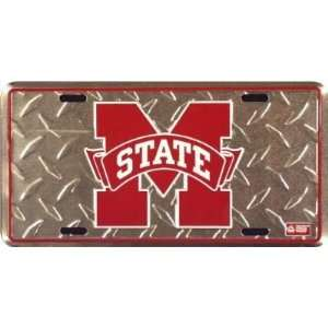 Mississippi State Diamond Cut NCAA Tin License Plate