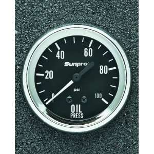 Sun Elect CP8061 *New* Pro 2 5 8 Mechanical Oil Pressure Gauge