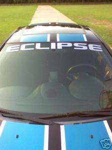 ECLIPSE VINYL WINDSHIELD BANNER, DECAL, STICKER, 4X40