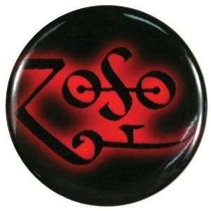 Led Zeppelin   Zoso Symbol Button Magnet