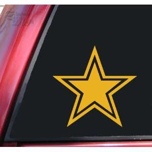 Star With Outline Mustard Vinyl Decal Sticker Automotive