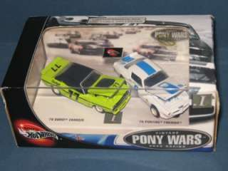 2002 Hot Wheels 2 Car Set PONY WARS 1 Mint In Box