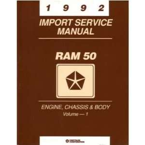 1992 DODGE RAM 50 TRUCK Shop Service Repair Manual Book Automotive